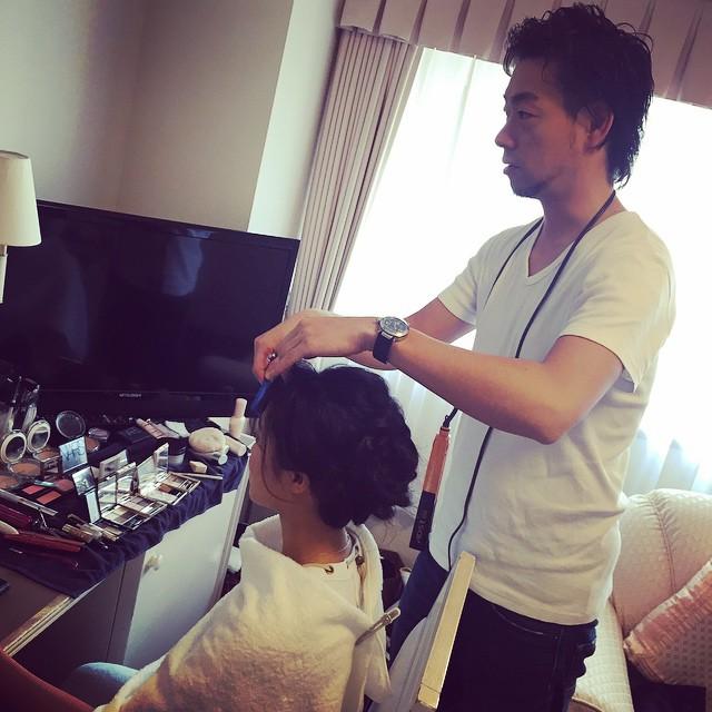 朝から社長と撮影へ☻☻☻サロンはお休みですっm(__)mRisa#撮影 #仕事 #hair #make