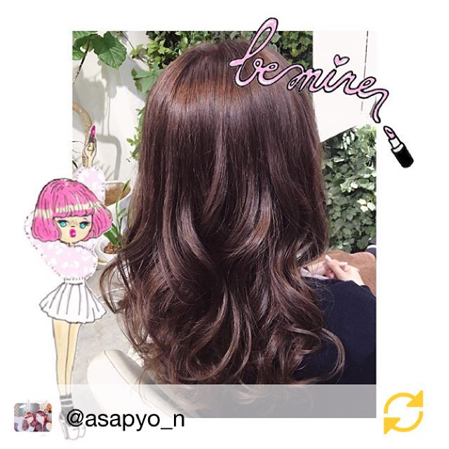 """RG @asapyo_n: ᕱ⑅ᕱ*髪の毛はラベンダーにした〜😈*最近明るかったから落ち着いた。笑"""" 卍卍卍 """"から抜け出せた∩(´;ヮ;`)∩*#美容院 #渋谷 #CELSUS #RISAさん#haircolor #ラベンダー #アッシュ ##RISAさんありがとうございました #regramapp"""