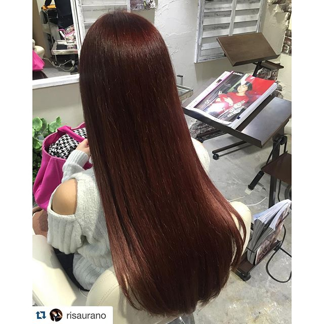 #Repost @risaurano with @repostapp.・・・Red️Long Hair!!!!!!!